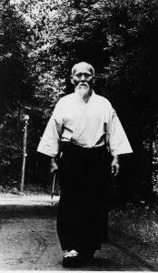 Aikido gift - O Sensei walking